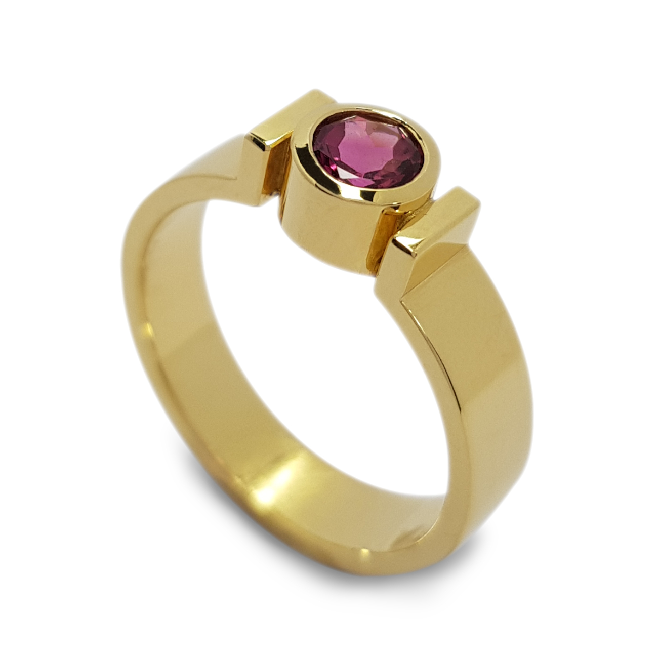 Rudolf Heltzel bezel set solitaire diamond engagement ring